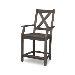 Braxton Counter Arm Chair in Vintage Finish
