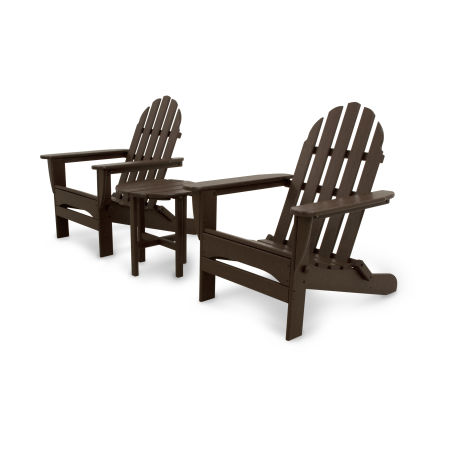 Classics 3-Piece Folding Adirondack Set in Mahogany
