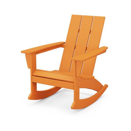 Modern Adirondack Rocking Chair in Tangerine