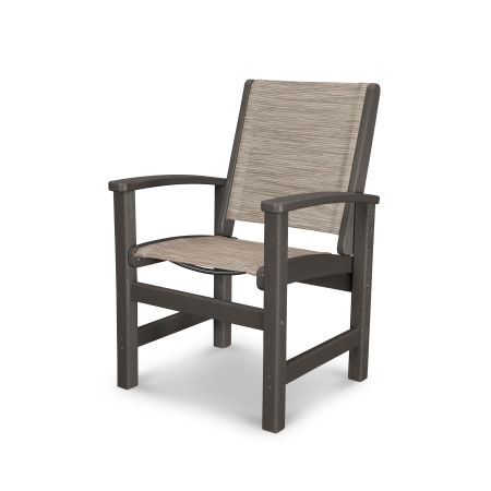 Coastal Dining Chair in Vintage Coffee / Onyx Sling