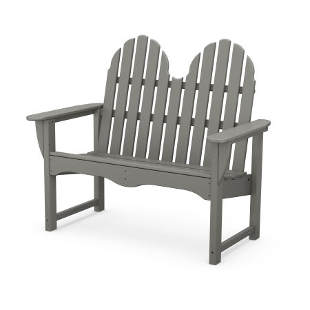 "Classic Adirondack 48"" Bench in Slate Grey"