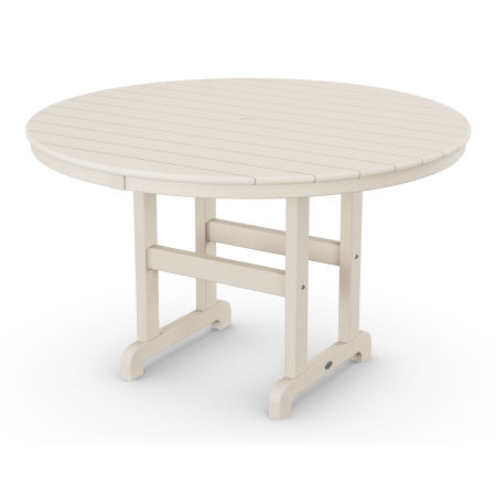 """Round 48"""" Dining Table in Sand"""