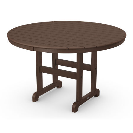 """Round 48"""" Dining Table in Mahogany"""
