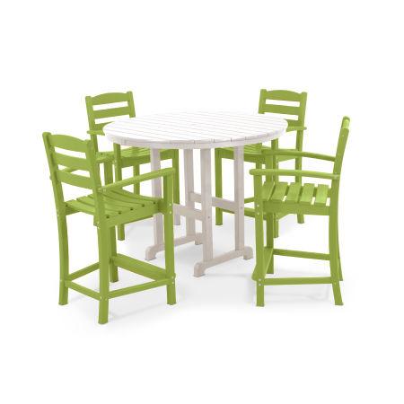 La Casa Café 5-Piece Counter Set in Lime