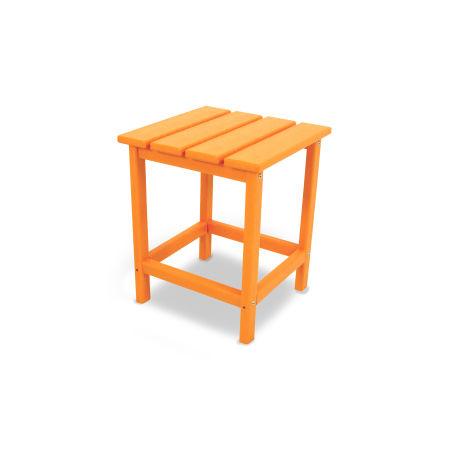 """Long Island 18"""" Side Table in Tangerine"""