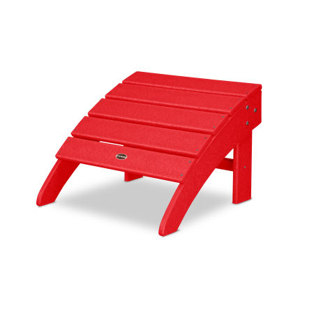 Palm Coast Ottoman in Sunset Red