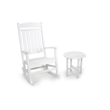 Classics 2-Piece Rocker Set in White