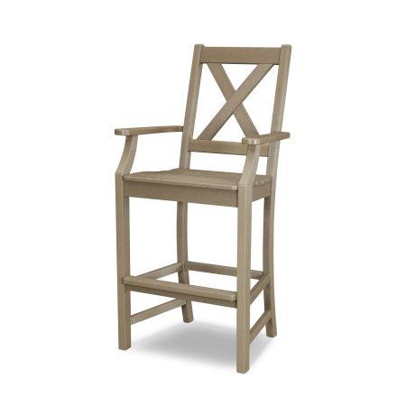 Braxton Bar Arm Chair in Vintage Sahara