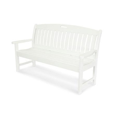 "Nautical 60"" Bench in White"