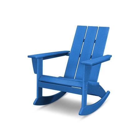 Modern Adirondack Rocking Chair in Vintage Pacific Blue