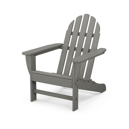 Classic Adirondack Chair in Slate Grey