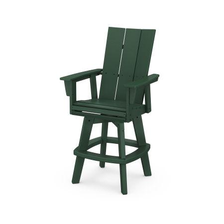 Modern Adirondack Swivel Bar Chair in Green