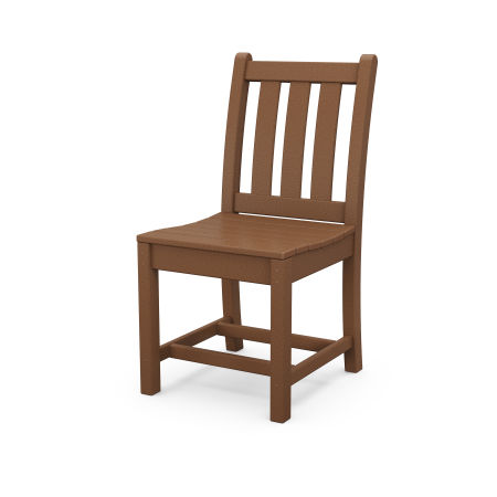 Traditional Garden Dining Side Chair in Teak