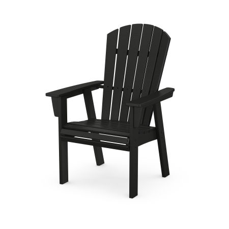 Nautical Adirondack Dining Chair in Black