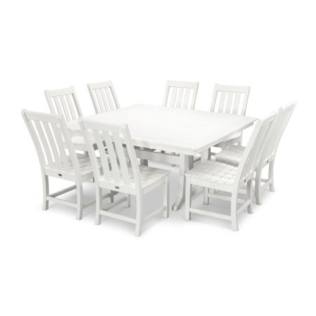 Vineyard 9-Piece Dining Set in Vintage White