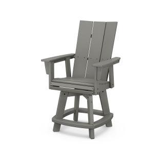 Modern Curveback Adirondack Swivel Counter Chair