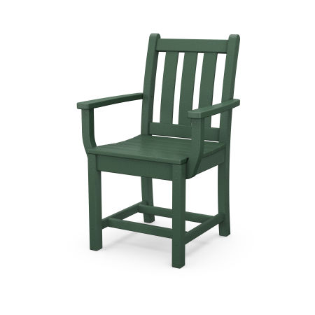 Traditional Garden Dining Arm Chair in Green