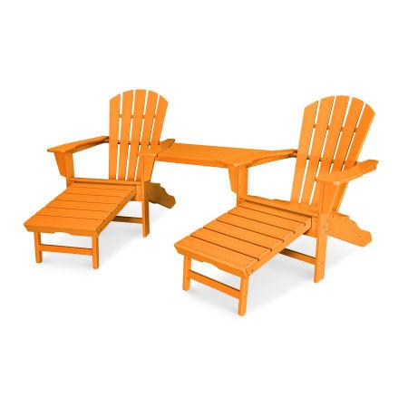 Palm Coast Adirondack Tête-à-Tête Set in Tangerine