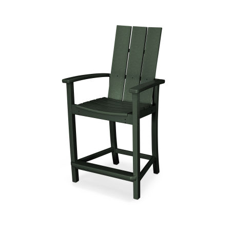 Modern Adirondack Counter Chair in Green