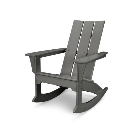 Modern Adirondack Rocker in Slate Grey
