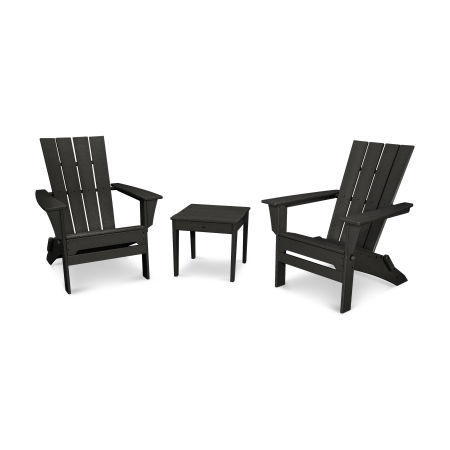 Quattro 3-Piece Adirondack Set in Black