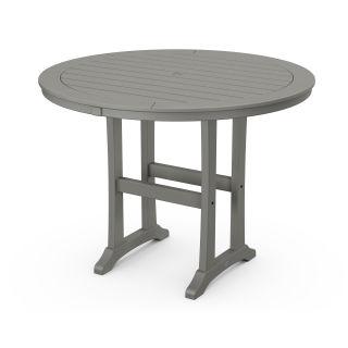 "Nautical Trestle 48"" Round Counter Table"