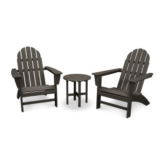 Vineyard 3-Piece Adirondack Set in Vintage Finish