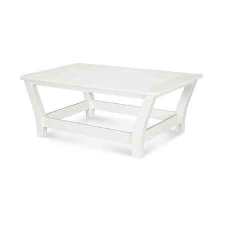 Harbour Slat Coffee Table in Vintage White