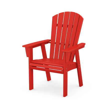 Nautical Adirondack Dining Chair in Sunset Red