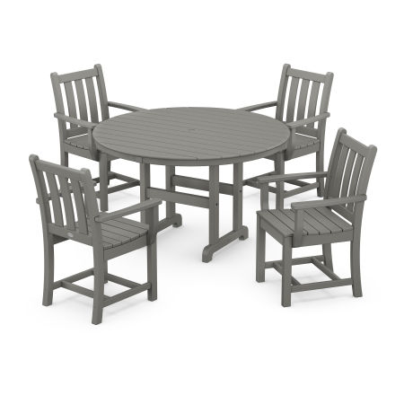 Traditional Garden 5-Piece Dining Set in Slate Grey