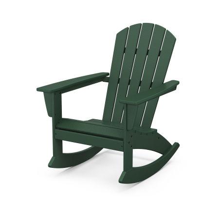 Nautical Adirondack Rocking Chair in Green