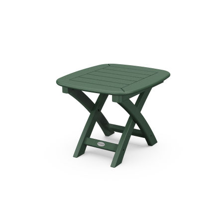 "Nautical 21"" x 18"" Side Table in Green"