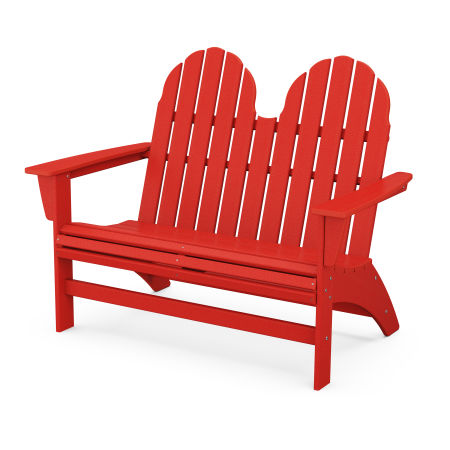Vineyard Adirondack Bench in Sunset Red