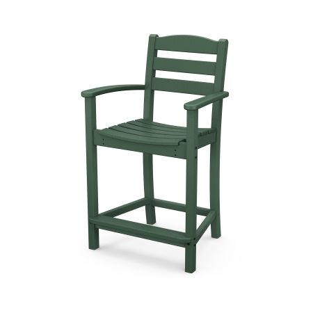 La Casa Café Counter Arm Chair in Green