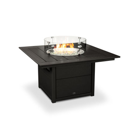 """Square 42"""" Fire Pit Table in Black"""