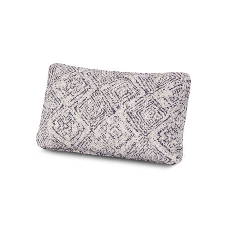 Outdoor Lumbar Pillow in Leona Indigo