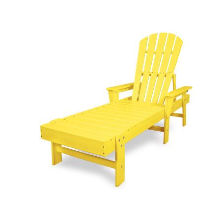 South Beach Chaise in Lemon