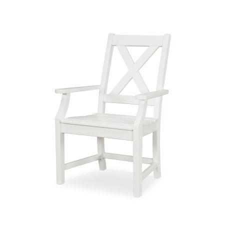 Braxton Dining Arm Chair in White