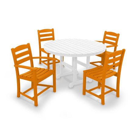 La Casa Café 5-Piece Dining Set in Tangerine
