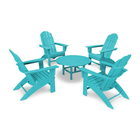 Vineyard 5-Piece Oversized Adirondack Set in Vintage Aruba