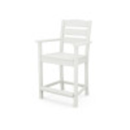 Lakeside Counter Arm Chair in Vintage White