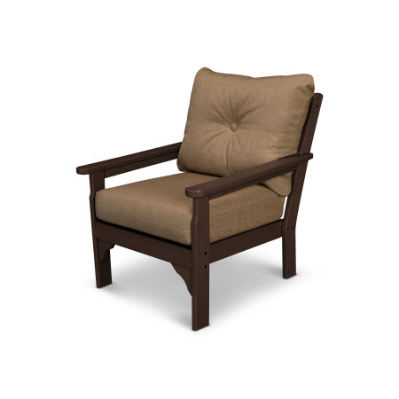 Vineyard Deep Seating Chair in Mahogany / Sesame