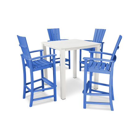 Quattro 5-Piece Bar Set in Pacific Blue