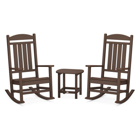 Presidential Rocking Chair 3-Piece Set in Mahogany
