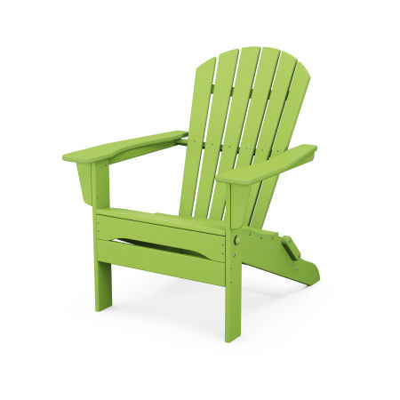 South Beach Folding Adirondack Chair in Lime