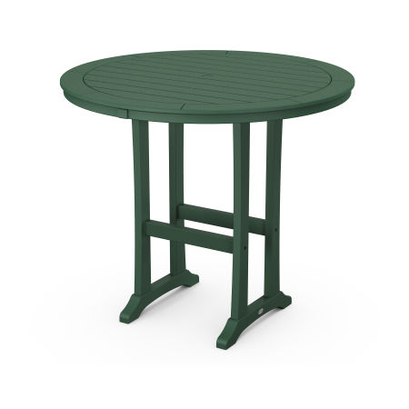 "48"" Round Bar Table in Green"