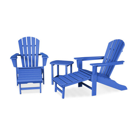 Palm Coast Ultimate Adirondack 3-Piece Set in Pacific Blue