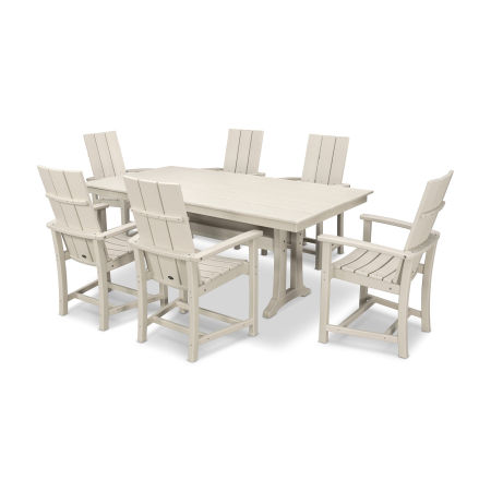 Adirondack 7-Piece Farmhouse Dining Set in Sand