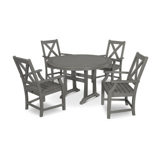 Braxton 5-Piece Nautical Trestle Arm Chair Dining Set