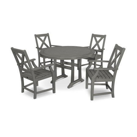 Braxton 5-Piece Nautical Trestle Arm Chair Dining Set